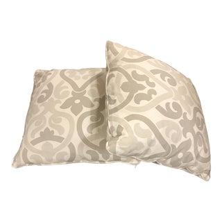 Gray & White Arabesque Pillows - A Pair