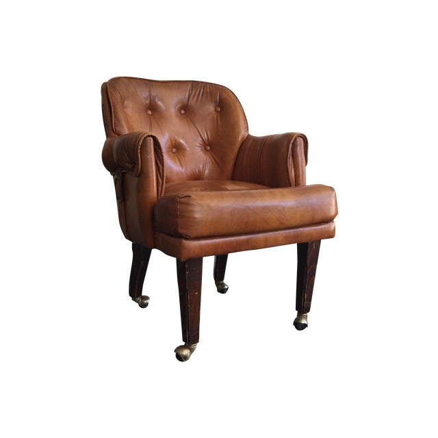 Tufted Faux Leather Chair - Image 1 of 4