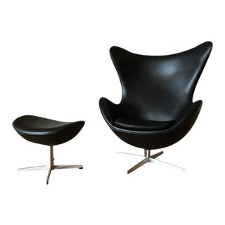 Arne Jacobson for Fritz Hansen Egg Easy Chair & Footstool