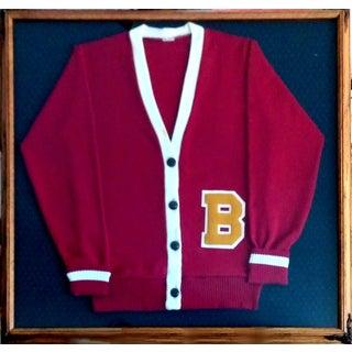 """Framed Varsity Letterman's """"B"""" Sweater"""