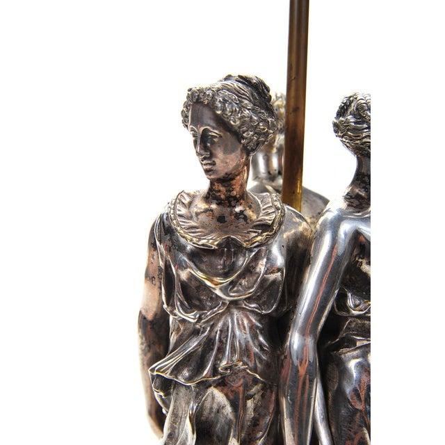 Antique Silver Figural Quot Three Graces Quot Table Lamp Chairish