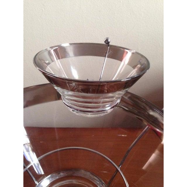 Image of Dorothy Thorpe Silver Rim Chip Dip Snack Set