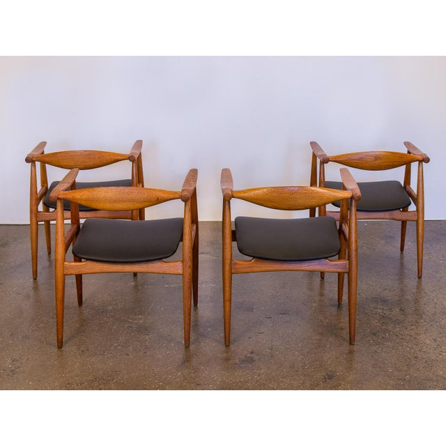 Set of Four Wegner CH-35 Armchairs - Image 5 of 11