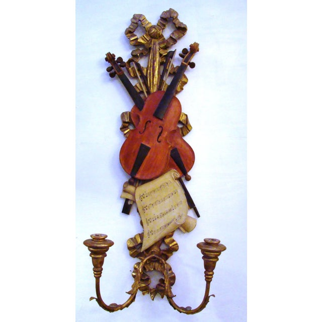 Italian Violin Sconces - Pair - Image 5 of 11