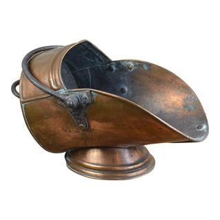 Arthur Poole English Copper Log Holder