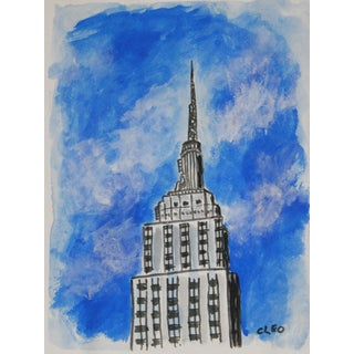 Empire State Building Painting by Cleo