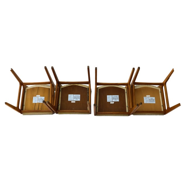 Vintage D-Scan Danish Teak Chairs - Set of 4 - Image 9 of 10