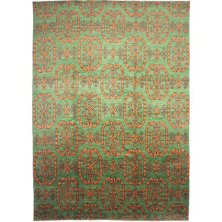 "Hand Knotted Ikat Rug by Aara Rugs Inc. - 14'6"" x 10'3"""