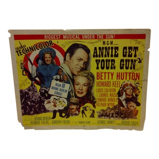 """Vintage Movie Poster """"Annie Get Your Gun"""" Betty Hutton - 1950"""