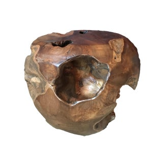 Teak Root Wood Side Table