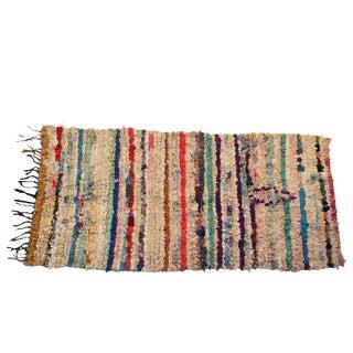 """Vintage Boucherouite Carpet - 5'8"""" X 2'9"""""""