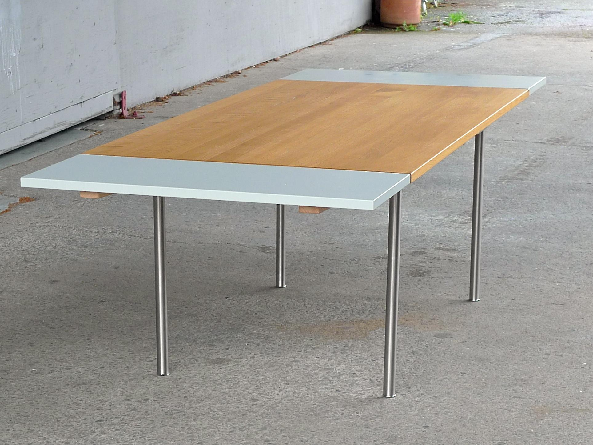 Wegner CH318 Danish Modern Dining Table Or Work Table For Carl Hansen U0026 Son  With Leaf