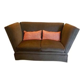 Knoll Style Brown Mohair Sofa
