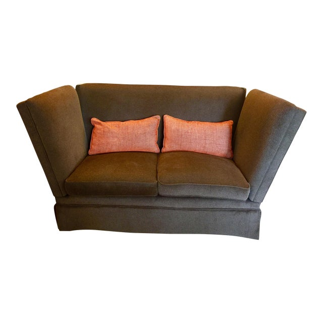 Knoll Style Brown Mohair Sofa Chairish