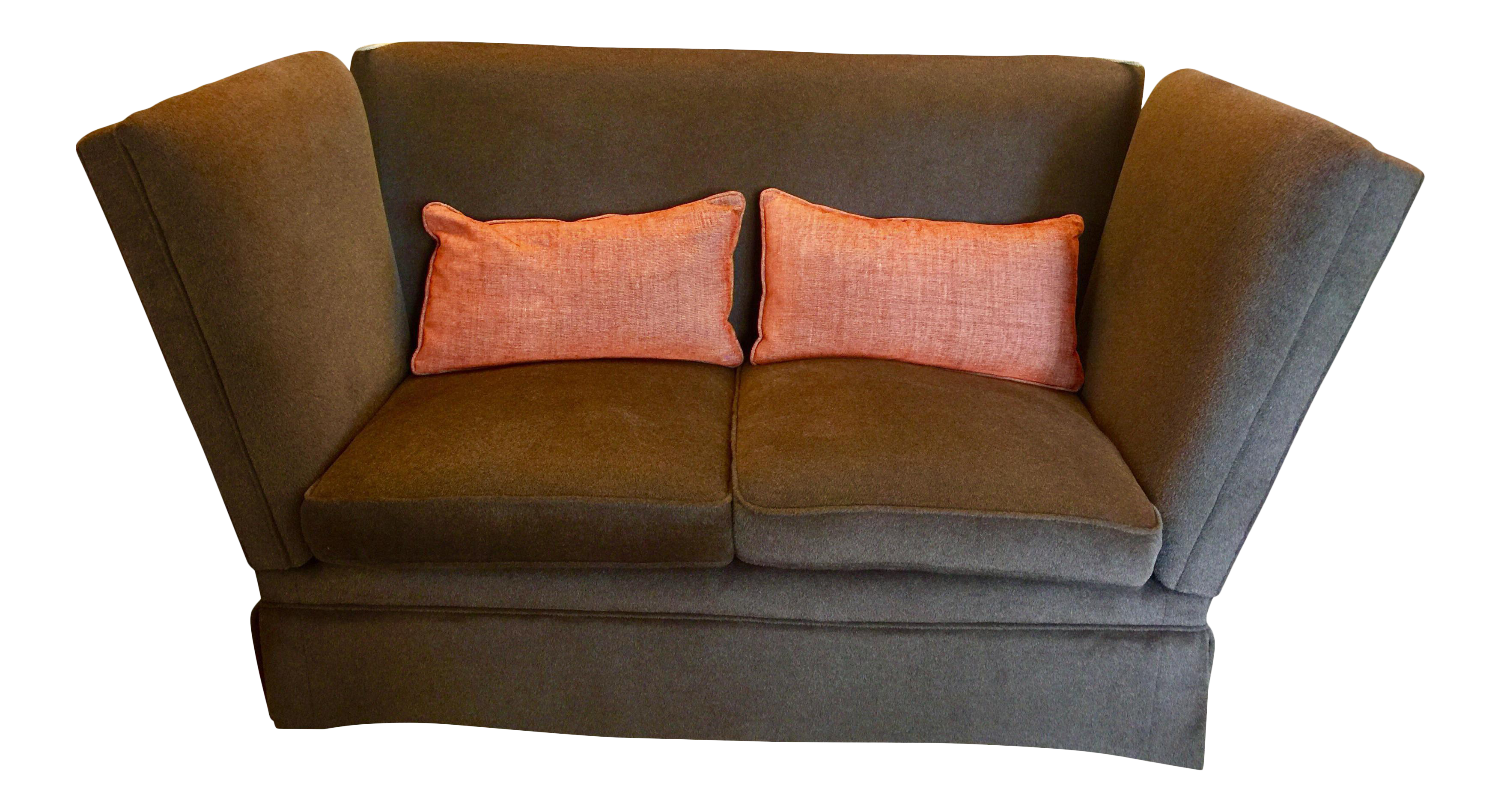 Knoll Style Brown Mohair Sofa   Image 1 Of 7