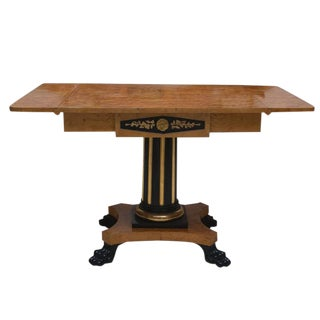 19th Century Swedish Cherrywood Biedermeier Pedestal Sofa Table