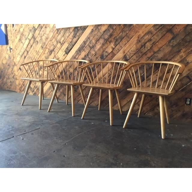 Mid Century Spindle Chairs - Set of 4 - Image 5 of 6