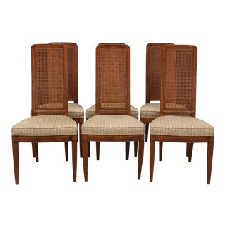 Henredon Cane Back Dining Chairs, S/6