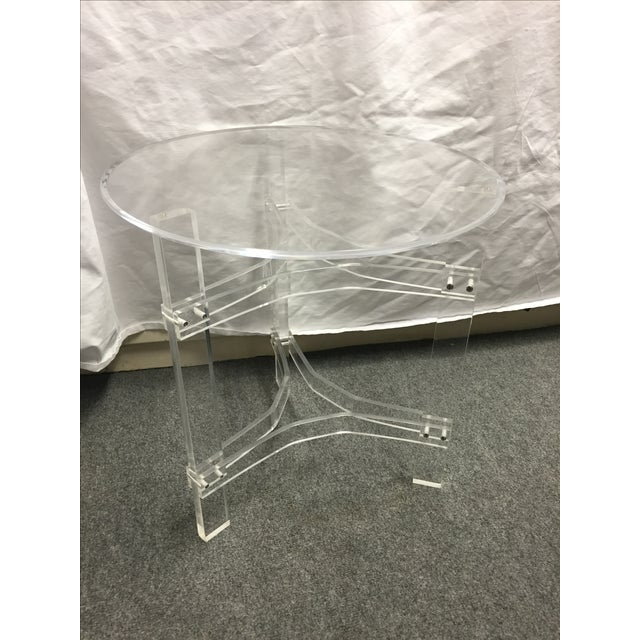 Mid-Century Modern Lucite Side Table - Image 9 of 9