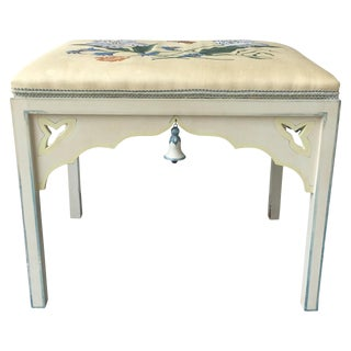 English Colefax and Fowler Style Stool
