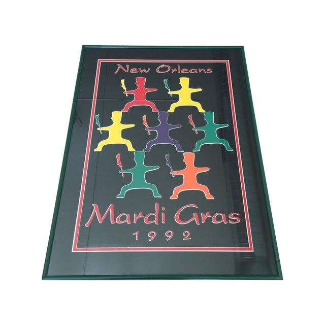 1992 Mardi Gras Poster - Framed - Image 1 of 3