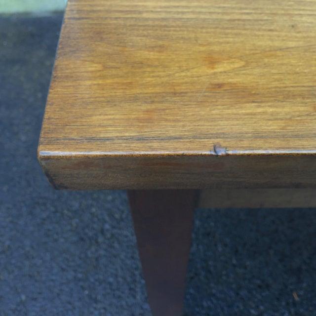 Large Vintage Modern 2-Drawer Desk - Image 9 of 11