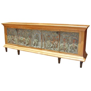 Important Carved Front Italian Buffet