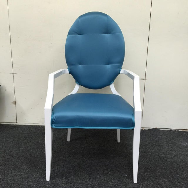 Modrest Versus Emma Fabric Turquoise Chair - Image 2 of 6
