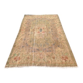 "Antique Hand Knotted Oushak Rug - 76"" x 126"""