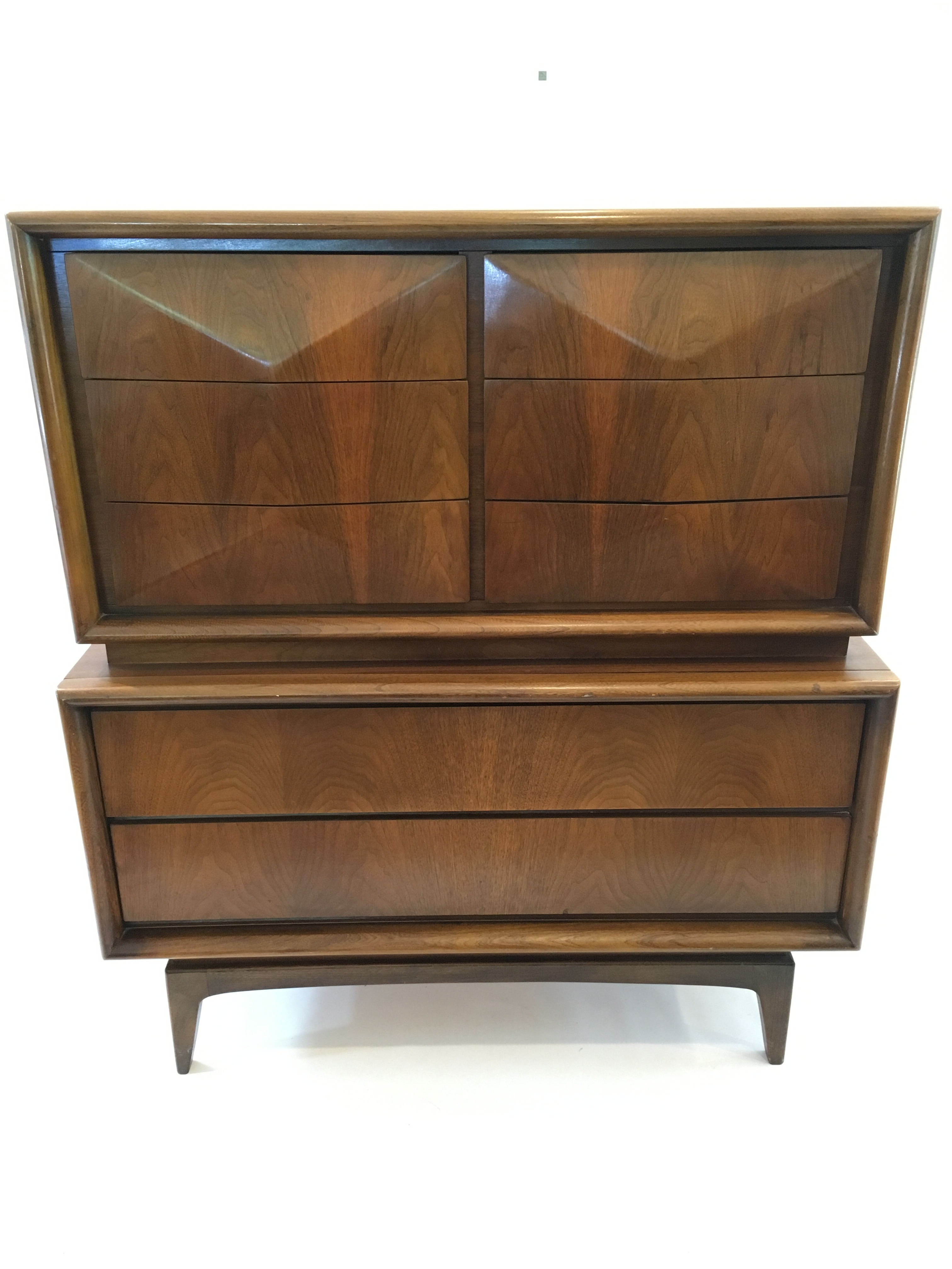 mid century kagan style united furniture co front