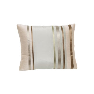 Satin Gold Bronze Stripes Decorative Pillow