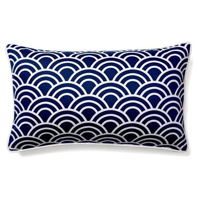 Navy & White Art Deco Arch Pillows - Set of 3 - Image 4 of 4