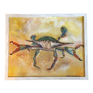 Nancy T. Van Ness Blue Crab Original Oil Painting