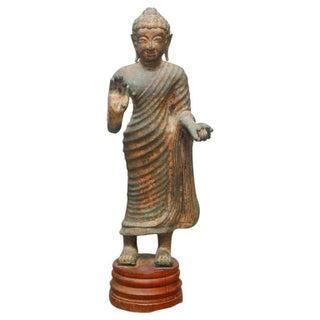 Cast Iron Standing Buddha Statue