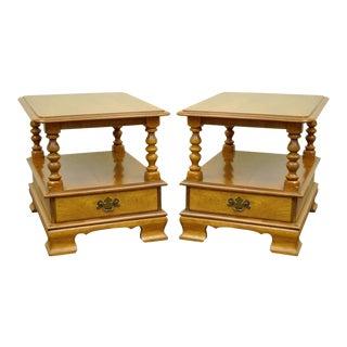 Ethan Allen Heirloom Nutmeg Tables - A Pair