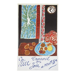 "1959 Henri Matisse ""Nice Travail & Joie"" Lithograph"