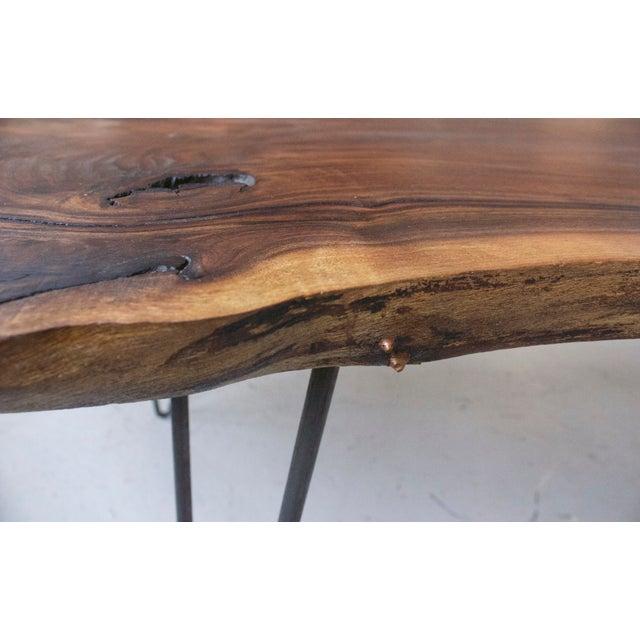 Black Walnut Live Edge Coffee Table, Hairpin Legs - Image 10 of 12