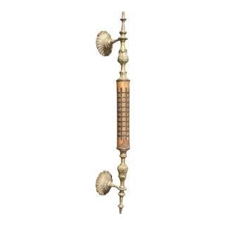 Antique Rustic Brass & Wood Door Handle