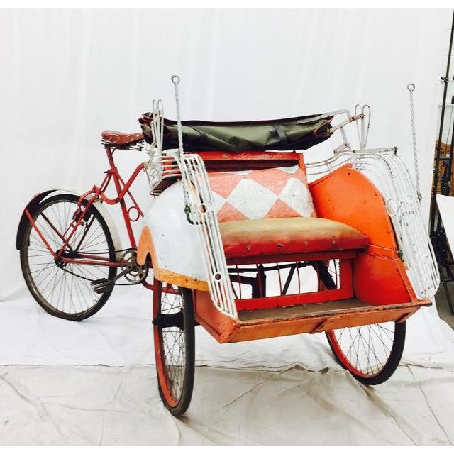 Vintage Indian Rickshaw Cart - Image 3 of 11