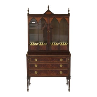 Kittinger Sheraton Style Mahogany Secretary Desk