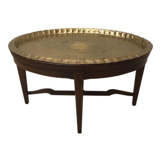 Hekman Brass Tray Table