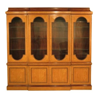 Baker Monumental Satinwood 4 Door Breakfront