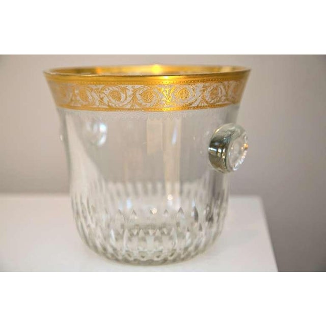 Image of Saint-Louis Thistle Crystal Ice Bucket