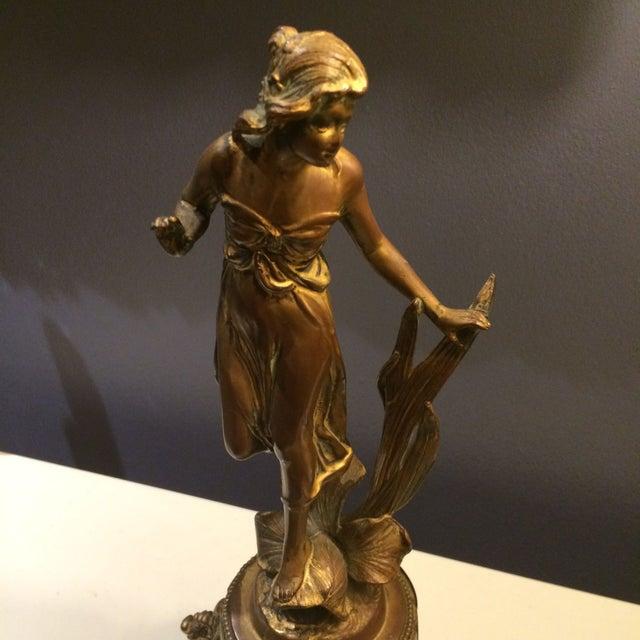 Bronze Sculptural Clock - Image 4 of 8