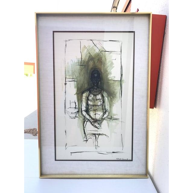 """""""Caroline"""" Lithograph by Alberto Giacometti - Image 2 of 7"""