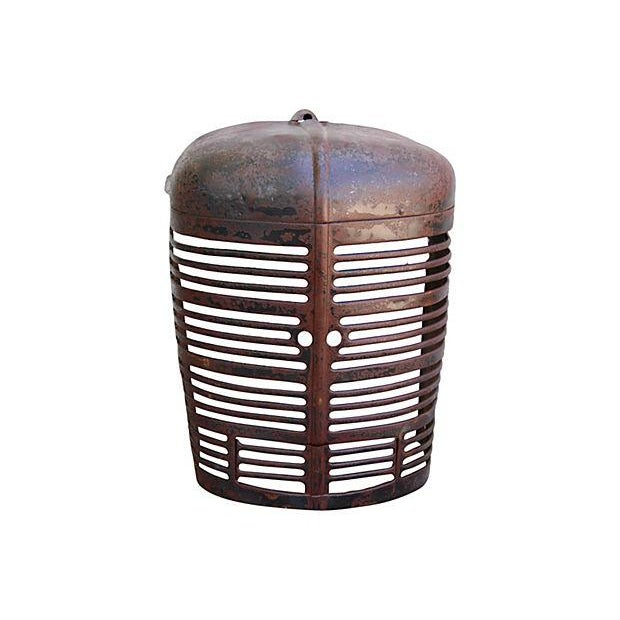 Antique Industrial Farm Tractor Grill Art Piece - Image 7 of 7