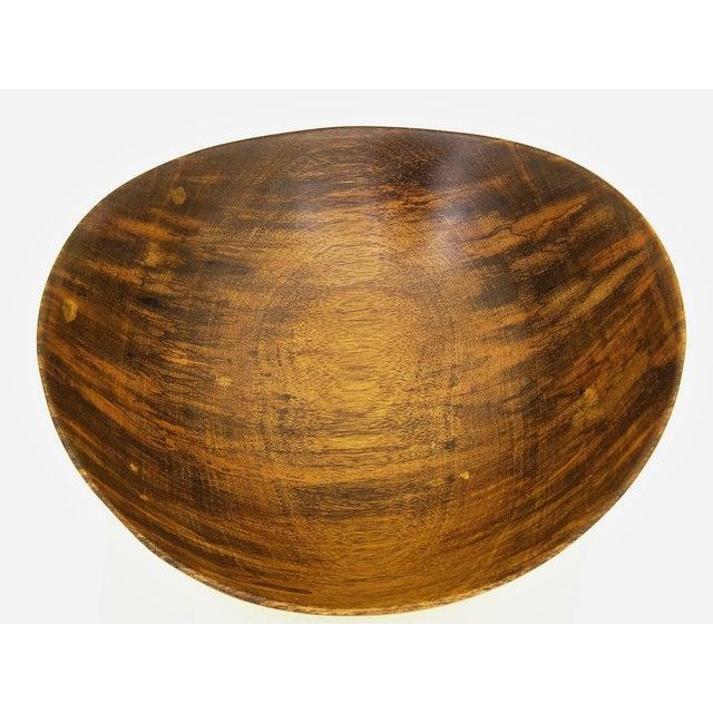 David Auld Large Mid-Century Wood-Carved Bowl - Image 6 of 11