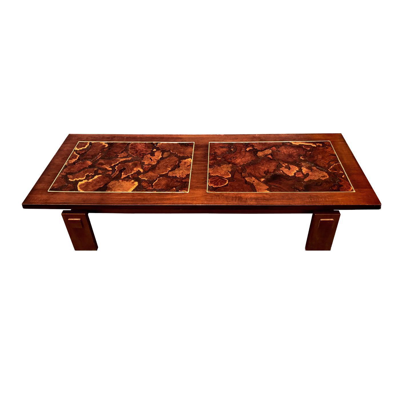 Lane Mid Century Burl Wood Coffee Table