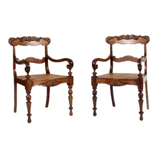 Set of 19th Century Eight Anglo-Indian Dining Chairs