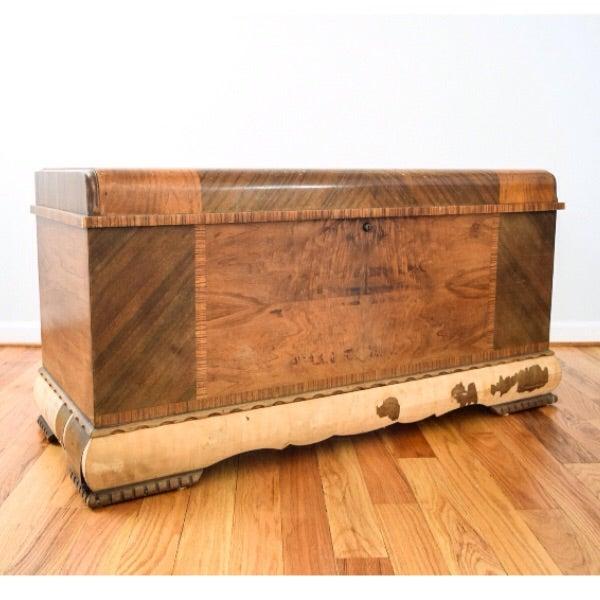 Art Deco Lane Cedar Chest Trunk - Image 2 of 9